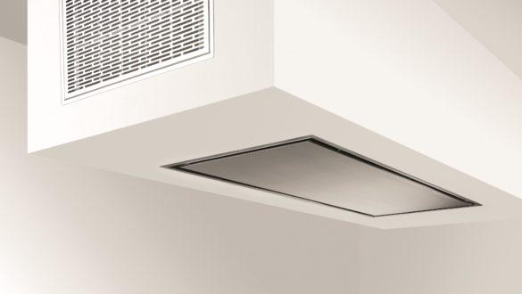 Instalace stropního odsavače Pure'line s recirkulačním boxem